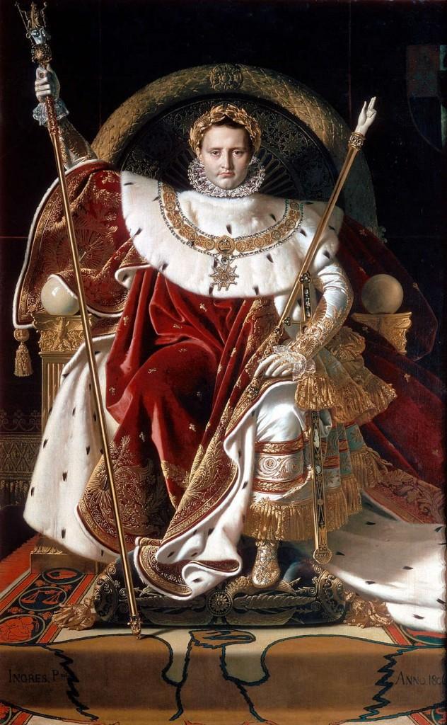 Napoleon I en su trono - Ingres